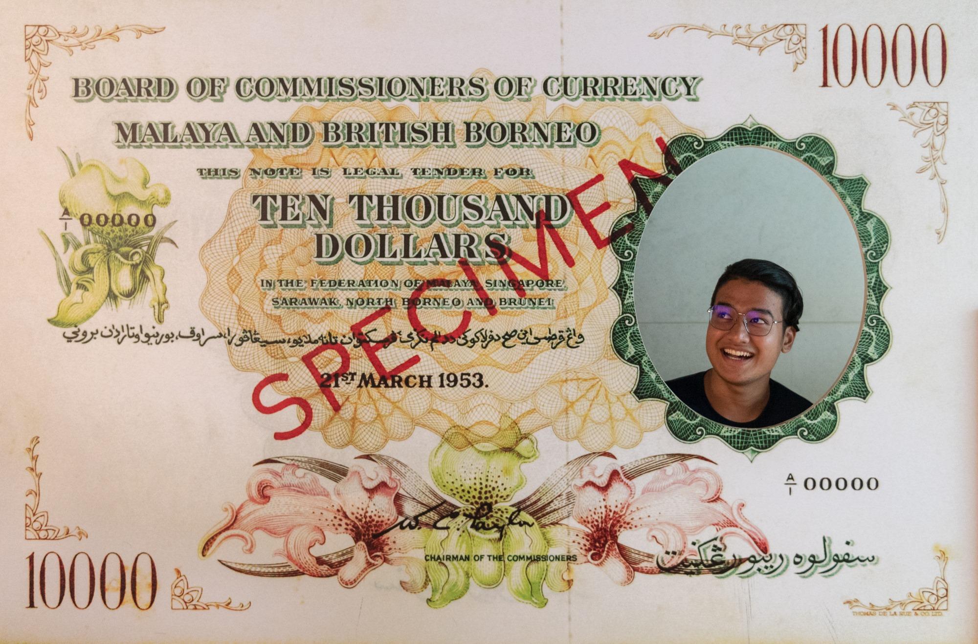 British Borneo Ten Thousand Dollars