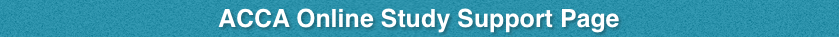 acca online study support page