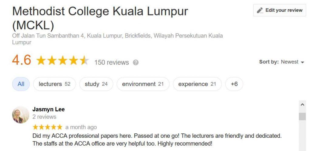 acca mckl google review